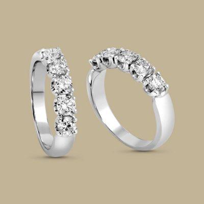 Anello Veretta GIORGIO VISCONTI  Oro e Diamanti Ct 0,20 AB16005B20