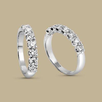 Anello Veretta GIORGIO VISCONTI  Oro e Diamanti Ct 0,20 AB16007A20