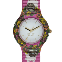 OROLOGIO HIP HOP DONNA ANIMALS ADDICTED FLOWER DOG 32MM COD. HWU0879