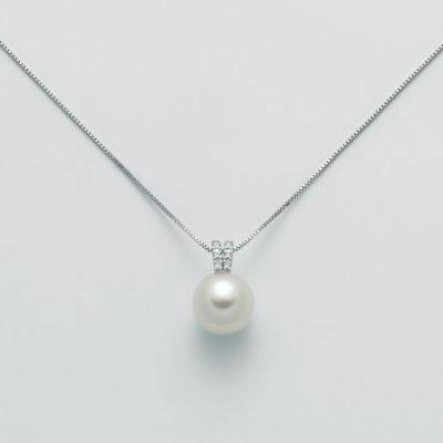 Collana Da Donna Miluna In Oro Bianco Perla E Diamanti cod. PCL5524