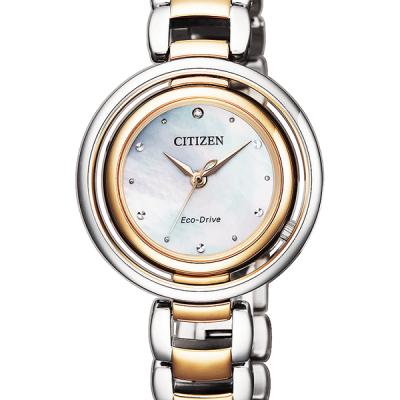 Orologio Citizen Lady Eco-Drive Acciaio e Oro con Quadrante Madreperla cod. EM0666-89D
