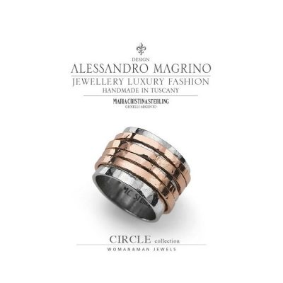 ANELLO CIRCLE MARIA CRISTINA STERLING IN ARGENTO 925 ROSE' MADE IN ITALY cod. G3524R