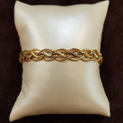 Bracciale In Oro Giallo E Bianco Da Donna 18Kt Cod. 910004509016