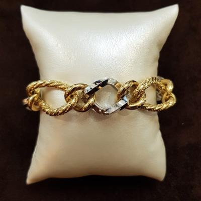 Bracciale In Oro Giallo E Bianco Da Donna 18Kt